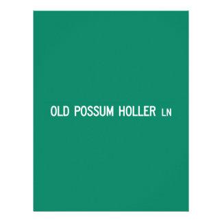 Viejo Holler Rd, placa de calle, N. Carolina, los Membretes Personalizados