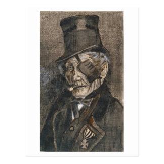 Viejo hombre con el remiendo del ojo, Vincent van Tarjetas Postales