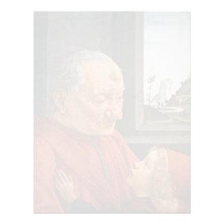 Viejo hombre con un muchacho joven de Domenico Ghi Plantilla De Membrete