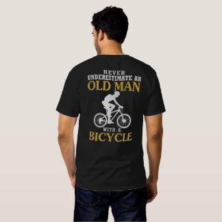 Viejo hombre de la bicicleta camisas
