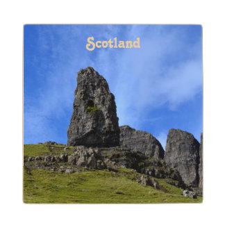Viejo hombre de Storr en la isla de Skye Posavasos De Madera