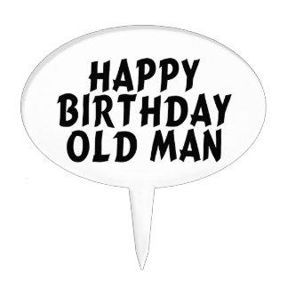Viejo hombre del feliz cumpleaños decoraciones para tartas