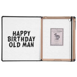 Viejo hombre del feliz cumpleaños iPad carcasas