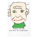Viejo hombre divertido gruñón papelería de diseño