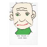 Viejo hombre divertido  papeleria de diseño