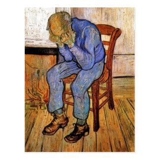 Viejo hombre en dolor de Vincent van Gogh 1890 Postal