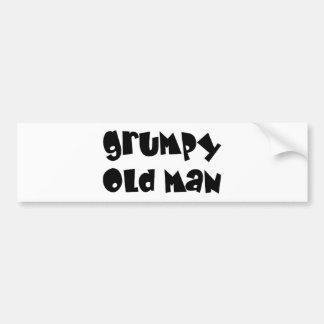 Viejo hombre gruñón etiqueta de parachoque