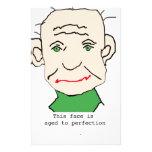Viejo hombre gruñón divertido papeleria personalizada