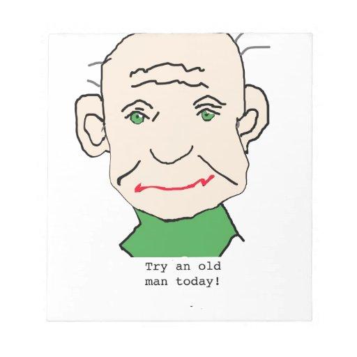 Viejo hombre gruñón libretas para notas