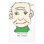 Viejo hombre gruñón papelería personalizada