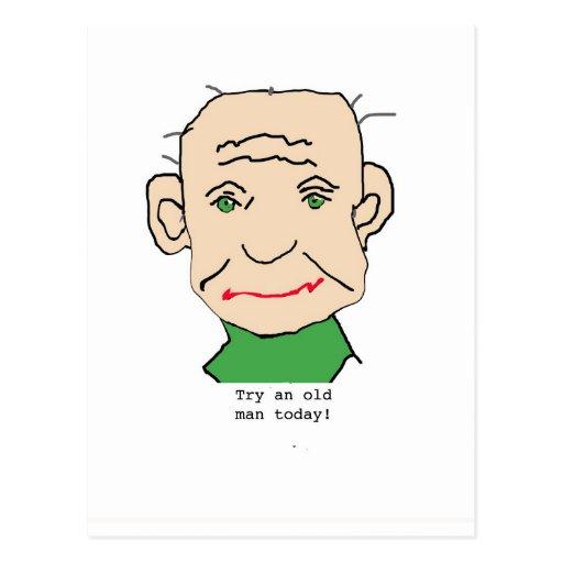Viejo hombre gruñón tarjetas postales