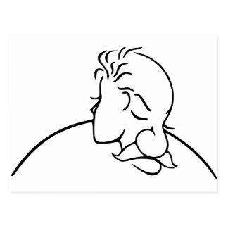 Viejo hombre o señora joven ilusión óptica postal