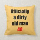 Viejo hombre sucio 40 cojin