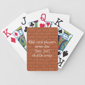 Viejo humor de la pared del Jugador-Ladrillo de la Cartas De Juego