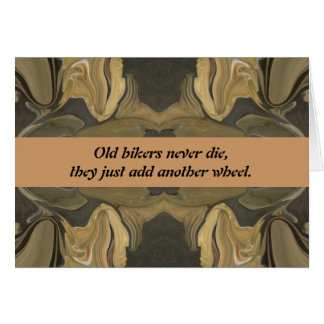 viejo humor de los motoristas tarjeta de felicitación