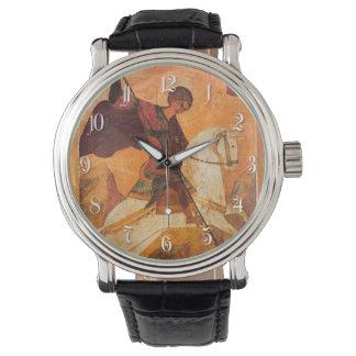 Viejo icono ruso de San Jorge Reloj