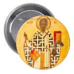 Viejo icono ruso de San Nicolás Pins