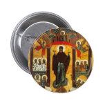 Viejo icono ruso la intercesión chapa redonda 5 cm