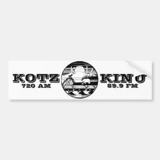 viejo kotz del logotipo etiqueta de parachoque