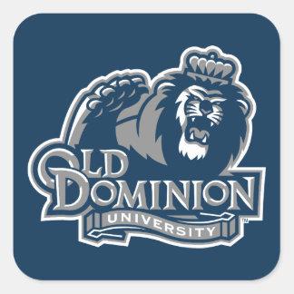 Viejo logotipo de la universidad del dominio pegatina cuadrada