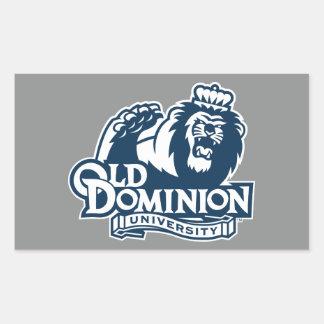 Viejo logotipo de la universidad del dominio pegatina rectangular