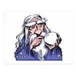 viejo mago blanco MERLIN Postal