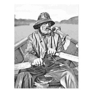 Viejo marinero tarjeta postal