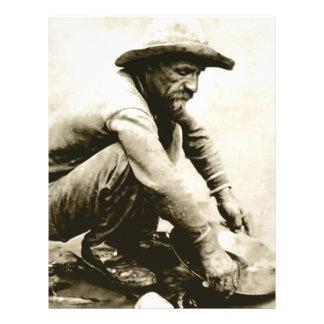 Viejo minero plantilla de membrete