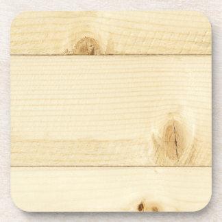 Viejo modelo blanco de madera de roble posavasos