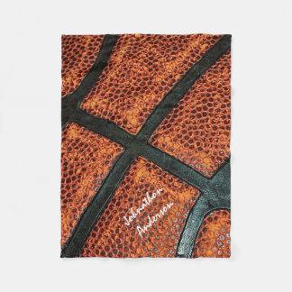 Viejo modelo retro del baloncesto con nombre manta de forro polar