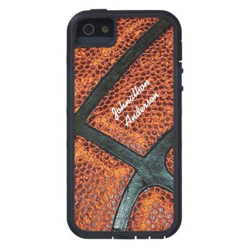 Viejo modelo retro personalizado del baloncesto iPhone 5 protector