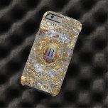 Viejo monograma elegante elegante de Hollywood Funda De iPhone 6 Tough