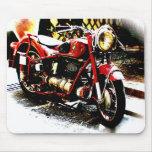 Viejo moterbike del bmw alfombrilla de ratón