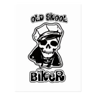 Viejo motorista de Skool Postales