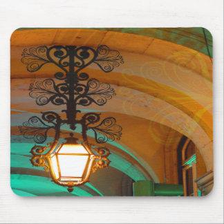 Viejo mousepad de la lámpara de Lisboa Tapetes De Ratones