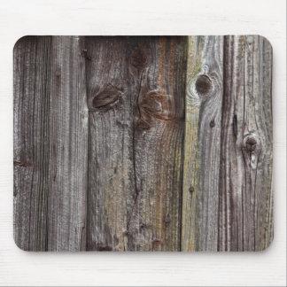 Viejo mousepad de madera de la pared