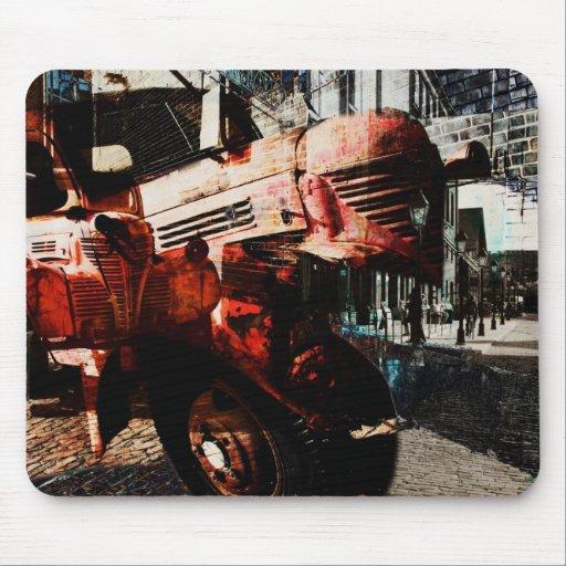 viejo mousepad rojo del camión tapetes de raton