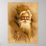 Viejo Mundo Papá Noel, St. Nick del Victorian del  Poster