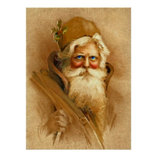 Viejo Mundo Papá Noel, St. Nick del Victorian del  Póster