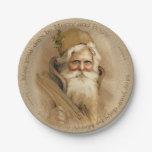 Viejo Mundo Santa 2 del navidad - placas de papel Plato De Papel 17,78 Cm