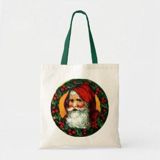 Viejo Mundo Santa en marco tradicional de la guirn Bolsas
