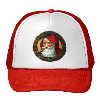 Viejo Mundo Santa en marco tradicional de la guirn Gorros Bordados