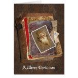 Viejo Mundo Santa, Felices Navidad Tarjeton
