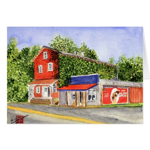 viejo munfordville mill.jpg tarjeta de felicitación