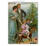 Viejo navidad de la moda tarjeton
