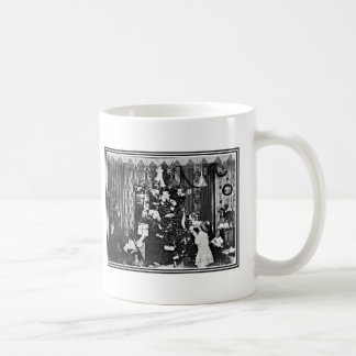 Viejo navidad de la moda taza de café