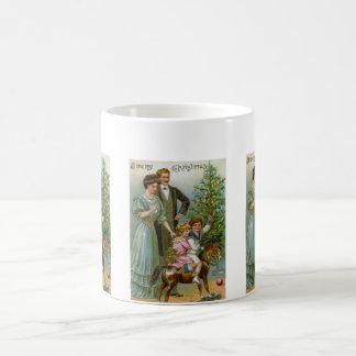 Viejo navidad de la moda tazas de café