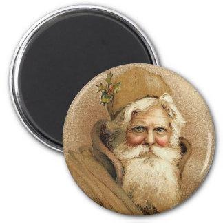 Viejo navidad del St. Nick del vintage Imán Redondo 5 Cm