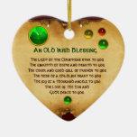 Viejo navidad irlandés que bendice el pergamino de ornamento para arbol de navidad