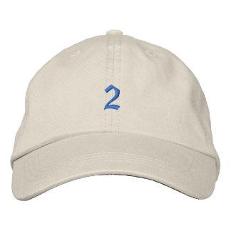 Viejo número de estilo 2 gorras de beisbol bordadas